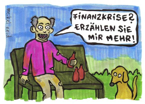 Cartoon: finanzkrise (medium) by meikel neid tagged armut,finanzkrise,truth,meikel,neid