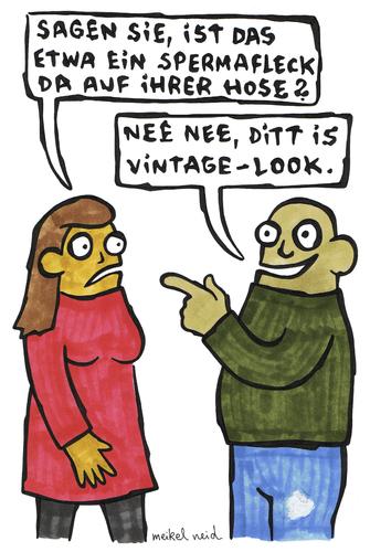 Vintage von meikel neid | Medien & Kultur Cartoon | TOONPOOL
