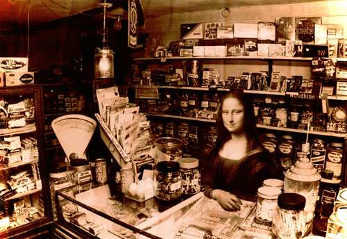 Cartoon: Old store (medium) by zu tagged store,shop,vintage,gioconda,leonardo