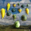 Cartoon: Air parade (small) by zu tagged gourd,balloon,airship