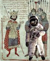 Cartoon: Captivity (small) by zu tagged medieval,captivity,astronaut,king,battle