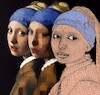 Cartoon: Earrings (small) by zu tagged earrings,vermeer