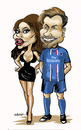 Cartoon: Beckhams (small) by jeander tagged david,beckham,psg,paris,saint,germain,victoria,football