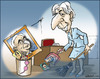 Cartoon: Clean up (small) by jeander tagged christine,lagarde,imf,strauss,kahn,dominique,scandal,sex