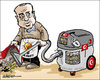 Cartoon: Erdogan hoovering.. (small) by jeander tagged turkey,coup,prisoners,hoover,vacuumclean,dissidents,erdogan,military
