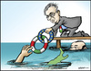 Cartoon: Monti  the rescuer (small) by jeander tagged mario,monti,crises,euro,italy