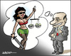 Cartoon: The goddess of justice (small) by jeander tagged berlusconi,justice,primeminister,silvio,italy