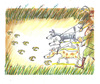 Cartoon: hunting (small) by rakbela tagged euro,hunting,dog