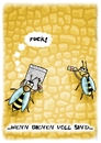 Cartoon: volle Bienen (small) by WSCHINSKI tagged bienen