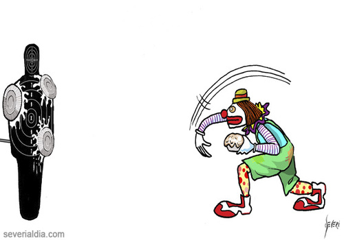 Cartoon: Training (medium) by mseveri tagged training,clown