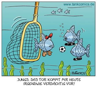Cartoon: fischfußball (medium) by pentrick tagged fußball,soccer,fisch,fish,sport,animals,tiere,