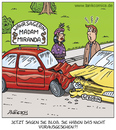 Cartoon: echte talente (small) by pentrick tagged wahrsagerin,fortuneteller,unfall,auto,car,accident,gerd,bökesch,cartoon,mann,frau,man,woman,streit,tank,comics,tankcomics