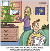 Cartoon: kalender de lux (small) by pentrick tagged adventskalender,schuhe,calendar,shoes,mann,frau,man,woman,weihnachten,christmas,gerd,bökesch,cartoon,tank,comics,tankcomics