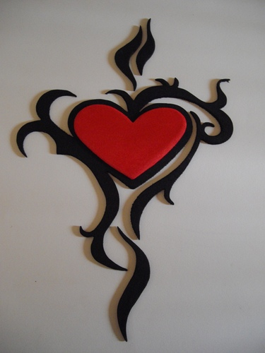 Cartoon Tribal Heart II medium By Spotty Tagged Tribalheart