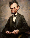 Cartoon: Abraham Lincoln (small) by yllifinearts tagged abraham,linkoln,cartoon