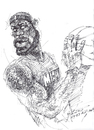 Cartoon: LeBron James (small) by yllifinearts tagged lebron,james,nba,basketball