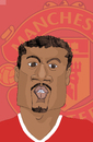 Cartoon: Patrice Evra (small) by Liam tagged football,england,sports,manu,manchester,united,premier,league