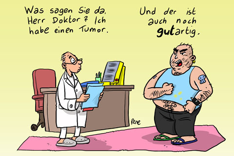 Cartoon: Der Tumor (medium) by rene tagged tumor,krankheit,arzt,diagnose