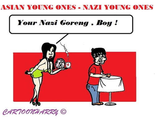 Cartoon: Asian Youth (medium) by cartoonharry tagged toonpool,popular,youth,asian,hitler,nazi