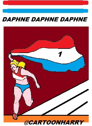 Cartoon: Daphne Scippers (medium) by cartoonharry tagged athletics,daphneschippers,cartoonharry