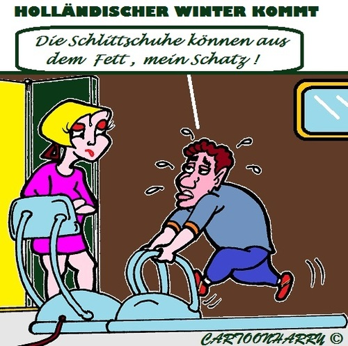 Cartoon: Der Anfang (medium) by cartoonharry tagged winter,anfang,schlittschuhe