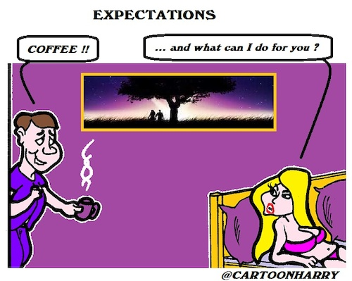 Cartoon: Expectations (medium) by cartoonharry tagged expectations,marriage