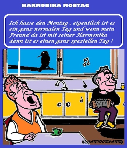 Cartoon: Harmonika (medium) by cartoonharry tagged heute,montag,harmonika,cartoonharry