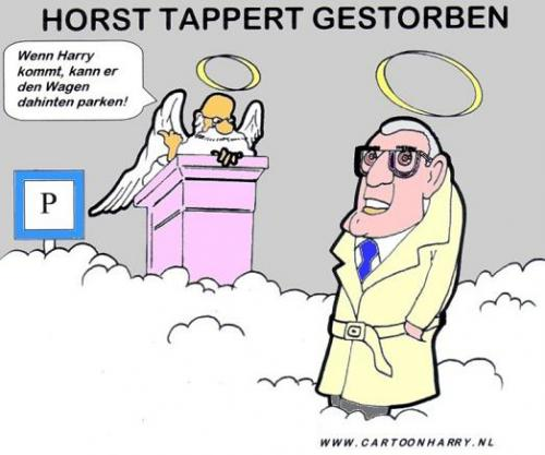 Cartoon: Horst Tappert (medium) by cartoonharry tagged derrick,tod,wagen,harry