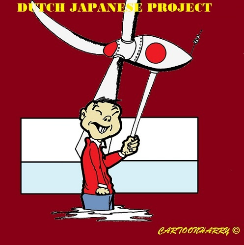 Cartoon: Japanese Wind (medium) by cartoonharry tagged japan,wind,holland,cartoon,cartoonist,cartoonharry,dutch,toonpool