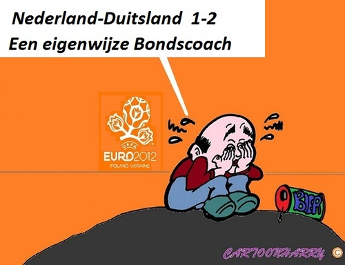 Cartoon: Nederland - Duitsland 1 - 2 (medium) by cartoonharry tagged holland,duitsland,vanmarwijk,ek2012,cartoon,toon,toons,voetbal,dutch,cartoonist,cartoonharry,toonpool