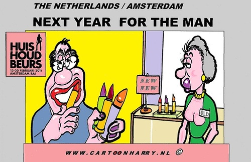 Cartoon: Next Year For Man Too (medium) by cartoonharry tagged household,market,exchange,man,cartoon,comic,comics,comix,artist,art,arts,drawing,cartoonist,cartoonharry,dutch,toonpool,toonsup,facebook,hyves,linkedin,buurtlink,deviantart,holland,amsterdam