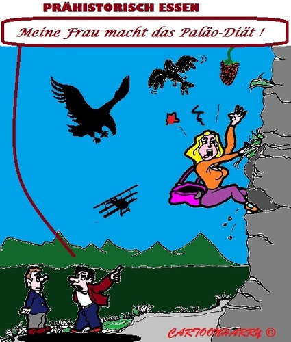 Cartoon: Paläo Diät (medium) by cartoonharry tagged paläo,diät,mann,frau,bergsport