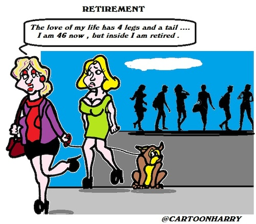Cartoon: Retirement (medium) by cartoonharry tagged retirement,dog