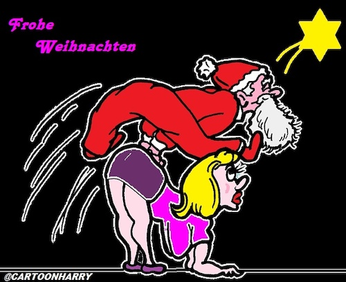 Cartoon: Schöne Feiertage (medium) by cartoonharry tagged weihnachten
