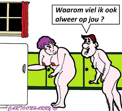 Cartoon: Waarom (medium) by cartoonharry tagged waarom,liefde,nacht,man,vrouw,koelkast,cartoon,cartoonist,cartoonharry,dutch,toonpool