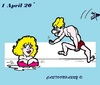 Cartoon: 1 April (small) by cartoonharry tagged april,cold,warm,winter,summer,joke,cartoons,cartoonists,cartoonharry,dutch,toonpool
