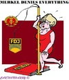 Cartoon: Angela Merkel (small) by cartoonharry tagged denial,angelamerkel,merkel,germany,ddr,everything,cartoons,fdj,cartoonists,cartoonharry,dutch,toonpool