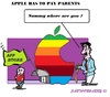 Cartoon: Apple Kids (small) by cartoonharry tagged apple,kids,parents,money,appstore