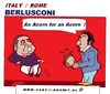 Cartoon: Berlusconi (small) by cartoonharry tagged silvio,berlusconi,italy,gone,away,out,churk,sexist,criminal,cartoon,caricature,cartoonist,cartoonharry,dutch,toonpool