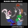 Cartoon: Black Friday 2015 (small) by cartoonharry tagged november27th2015 blackfriday2015 blackfriday fight present
