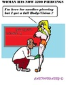 Cartoon: Body-Vision (small) by cartoonharry tagged body,vision,piercing,toonpool