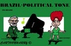 Cartoon: Brasil (small) by cartoonharry tagged dilmarousseff,llula,accordeon,clarinet,vips,famous,politicians,cartoons,cartoonists,cartoonharry,dutch,toonpool