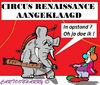 Cartoon: Circus Aangeklaagd (small) by cartoonharry tagged circus,olifant,renaissance,clown,aktivisten,cartoon,cartoonist,cartoonharry,dutch,toonpool