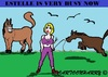 Cartoon: Estelle (small) by cartoonharry tagged estelle,cruyff,estellecruyff,busy,horses,badrhari,badr,hari,free,cartoon,cartoonharry,cartoonist,dutch,toonpool