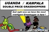 Cartoon: Expensive Grasshoppers (small) by cartoonharry tagged uganda,kampala,grasshoppers,light,electric,cartoon,cartoonist,cartoonharry,dutch,toonpool