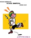 Cartoon: German Dope (small) by cartoonharry tagged germany,doping,soccer,years,toonpool