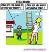 Cartoon: High Prices (small) by cartoonharry tagged town,blond,girl,daddy,prices,ladder