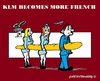 Cartoon: KLM (small) by cartoonharry tagged klm,flyco,airplane,pilot,stewardess,french,frenchstick,france,netherlands,cartoon,cartoonist,cartoonharry,dutch,toonpool