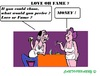 Cartoon: Love or Fame (small) by cartoonharry tagged love,fame,money