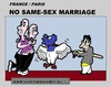 Cartoon: No Same-Sex Marriage (small) by cartoonharry tagged homo,samesex,sex,france,french,marriage,cartoon,comic,comics,comix,artist,art,arts,drawing,cartoonist,cartoonharry,dutch,lesbians,toonpool,toonsup,facebook,hyves,linkedin,buurtlink,deviantart
